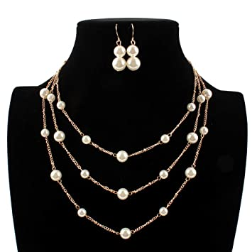 317ad4ae761e Collar y pendientes bisutería conjunto de boda Las mujeres de oro ...