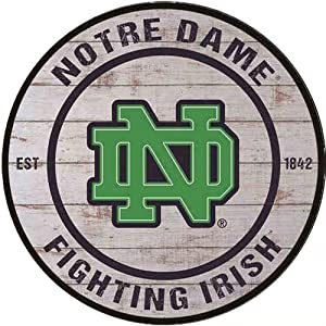 Poeni Vintage Metal Signs Aluminum Signs Notre Dame Fighting Irish Dorm Class Office Wall Decor 11.9x11.9