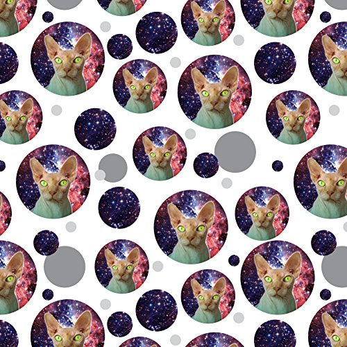 GRAPHICS & MORE Sphynx Space Cat Premium Gift Wrap Wrapping Paper Roll