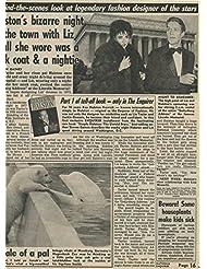 Elizabeth Taylor Halston original clipping magazine photo 1pg 9x12 #R2542