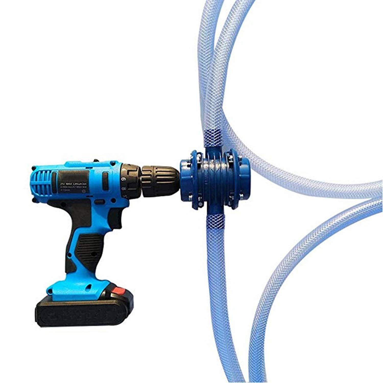 JohnJohnsen Pompe /à Main Drill Powered Miniature dauto-amor/çage centrifuge des m/énages Petite Pompe Bleu fonc/é