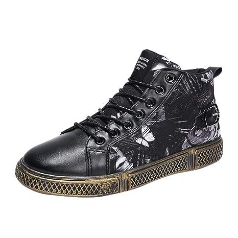 Bestow Zapatillas con Cordones de Corte Alto con Estampado de Mariposa para Hombres Zapatos de Hombre: Amazon.es: Ropa y accesorios