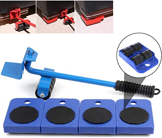 Heavy Furniture Moving System Lifter Tool with 4 Slides Pad Sofa Easy Move USA