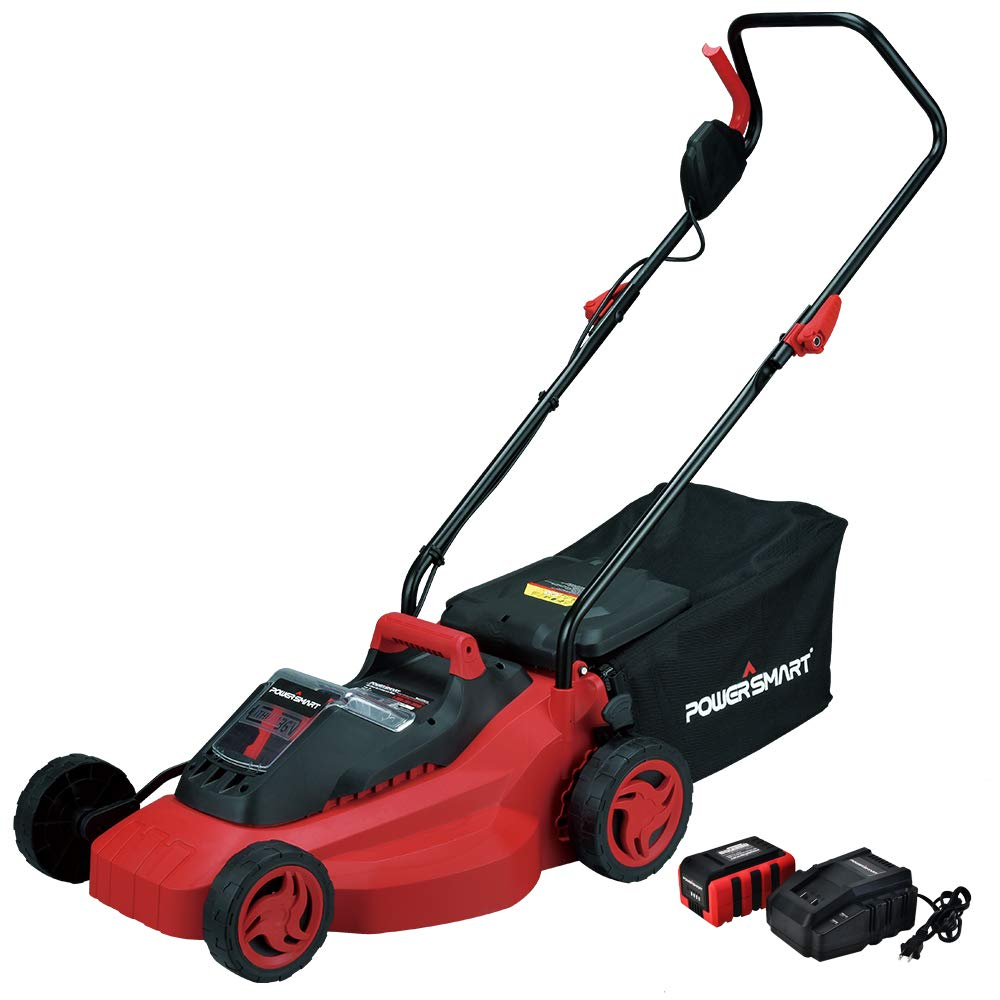 PowerSmart PS76215A Cordless Lawn Mower, 3Ah Battery and Charger Included by PowerSmart