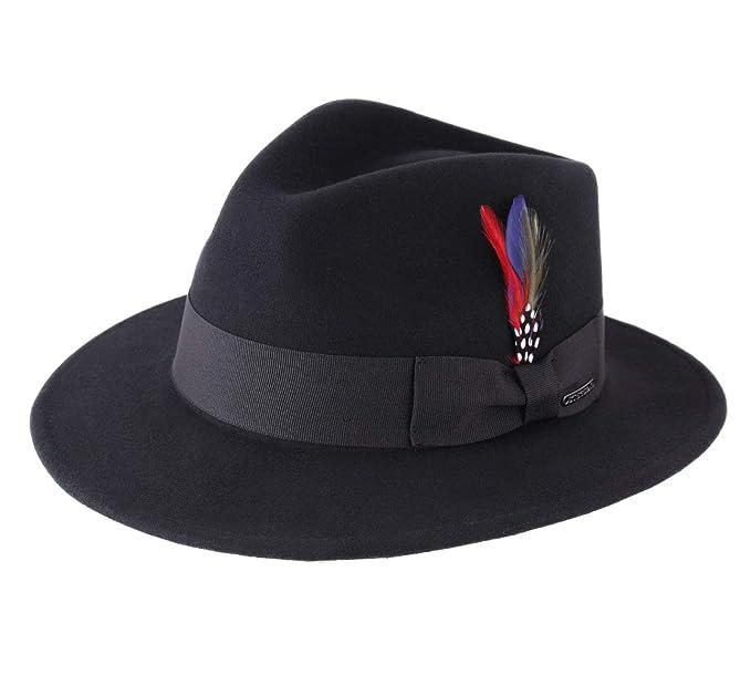 850fa29c337 Stetson - Fedora Hat Wool Felt Men Toledo Cashmere - Size S  Amazon ...