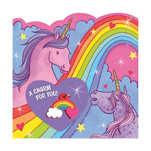 Peaceable Kingdom Rainbow Charm Unicorn Valentines - 28 Card and Envelope Pack 8