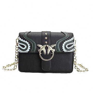 NEW Women Metal Swallow Flap Bag Designer PU Leather Fashion Rivet Messenger Bags Bolsa Feminina Ladies