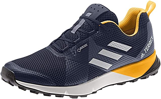 Blue adidas Mens Terrex Two GORE-TEX Trail Running Shoes Trainers Sneakers