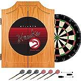 Trademark Global NBA Atlanta Hawks Wood Dart Cabinet Set, One Size, Brown