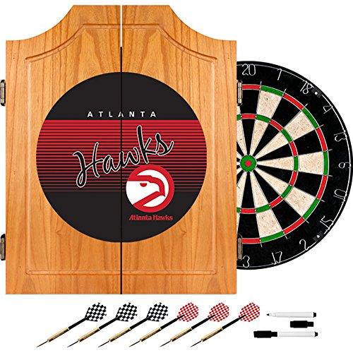 Trademark Global NBA Atlanta Hawks Wood Dart Cabinet Set, One Size, Brown by Trademark Global