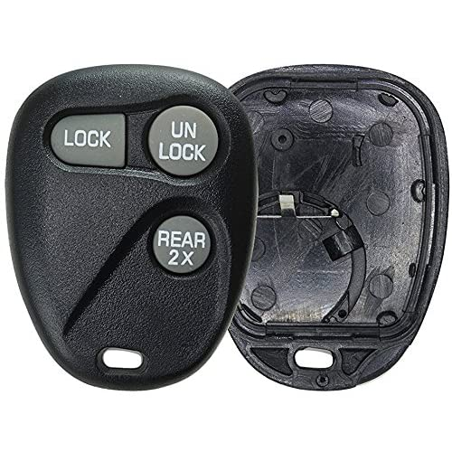 Black KeylessOption Just the Case Keyless Entry Remote Car Key Fob Shell Replacement