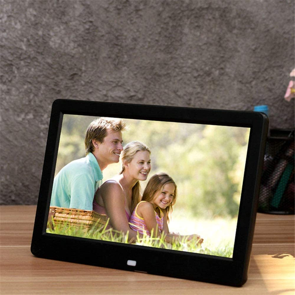 Digital Picture Frames 10 Inch LED Digital Photo Frame HD Digital Photo Frame Display Video Music for Daily Life Support SD Memory Card USB Stick Share Moments Instantly