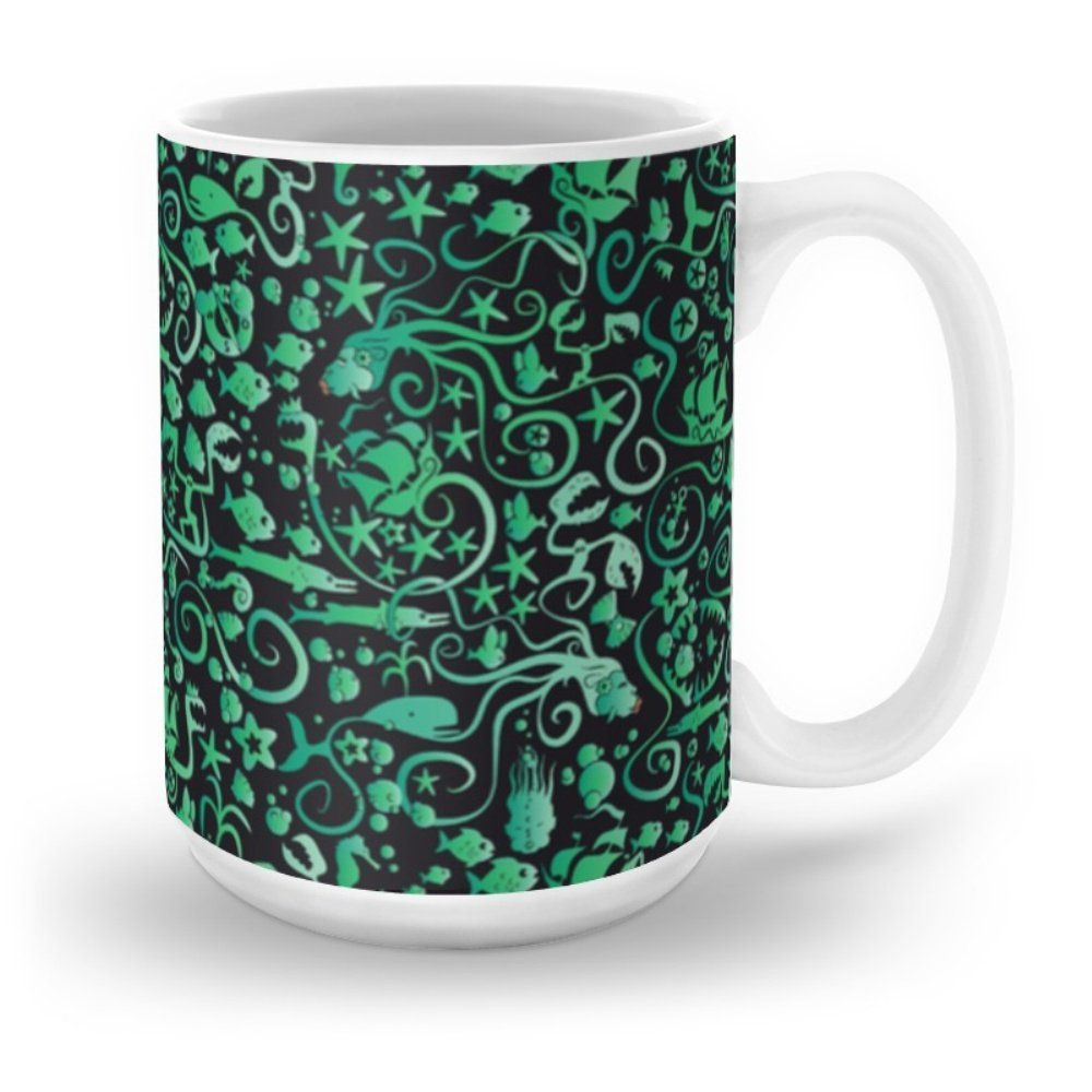 Society6 Mermaids Mug 15 oz
