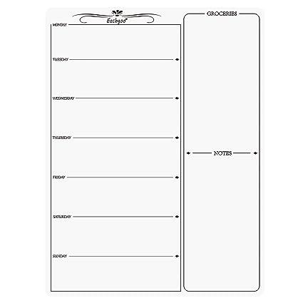 Magnetischer Wochenplaner Einkaufsliste Kühlschrank Schreibttafel Magnettafel