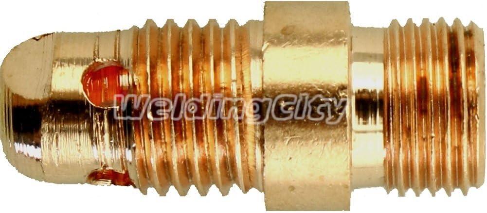 "WeldingCity 5-pk TIG Welding Torch STUBBY Collet Body 4CB116 1//16/"" for 17//18//26"