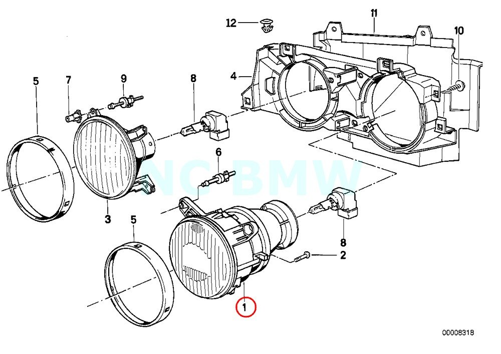 Amazon Com Bmw Genuine Low Beam Insert Left Automotive
