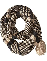 Women's Soft Knit Snood Scarf with Tassel