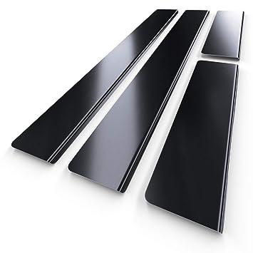 Protectores de acero para umbral de coche - negro - kit de 4 piezas - 5902538692939: Amazon.es: Coche y moto