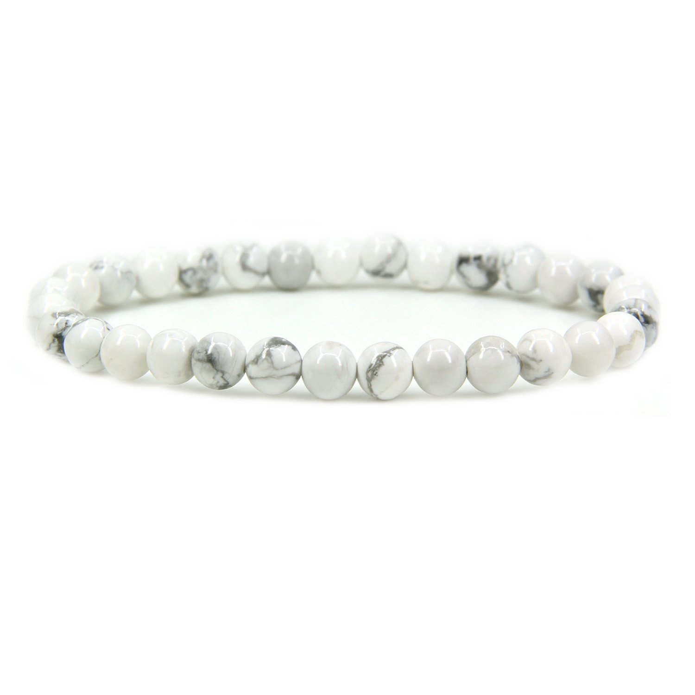 Gem Semi Precious Gemstone 6mm Round Beads Stretch Bracelet 7 Unisex Amandastone JAMAN-06-0093