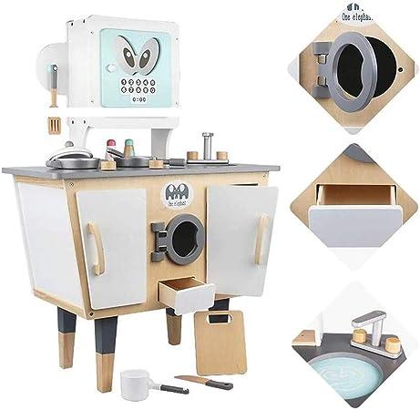 DWLXSH Juego de Cocina Cocinar niños Juguetes for niños Mini Playset Cocina, de Madera Inteligente Robot de Juguete de Cocina for Chicas, Cocinar, Padres e Hijos Educación de la Primera Simulación de: