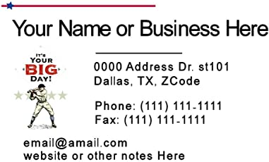 Business cards amazon office school supplies paper 100 standard business cards for baseball teachers trainers coaches color for personal or business use colourmoves