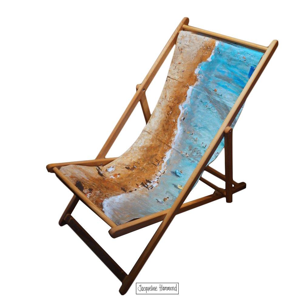Amazon.de: Strand Liegestuhl - Outdoor zusammenklappbar Holz-Deck ...