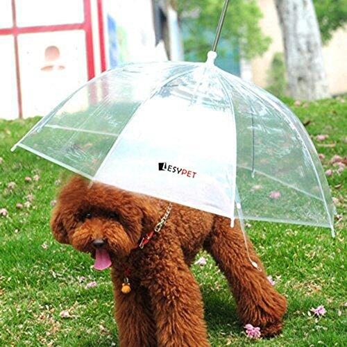 """UPC 656103003068, LESYPET Pet Umbrella Dog Umbrella With Leash, Fits 20"""" Pet's Back Length"""
