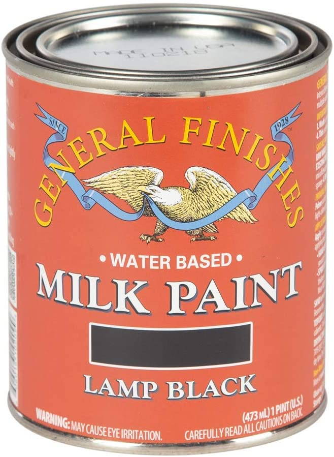 General Finishes Water Based Milk Paint, 1 Pint, Lamp Black
