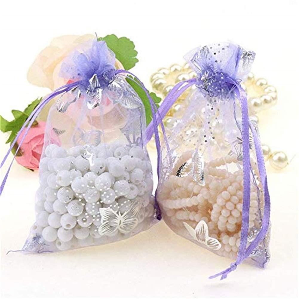 FanSi 25 St/ück Organzabeutel Schmetterling Schmuckbeutel Organzas/äckchen Geschenk S/ü/ßigkeiten Beutel Gastgeschenk Bags mit Drawstring