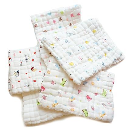 fygood bebé muselina paños y toallas de baño, toallas de mano de bebé recién nacido