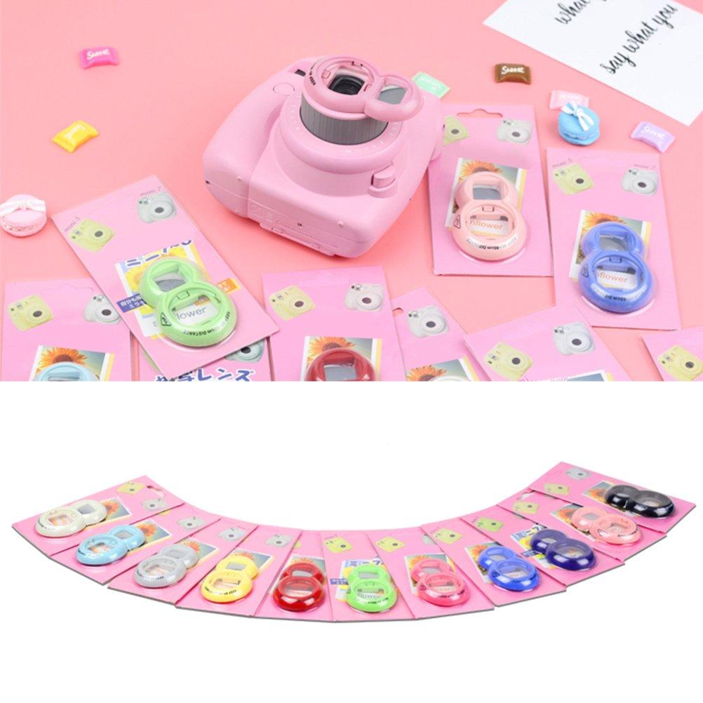 Zhuhaitf 14-in-1 Camera Accessories Bundle Multi Color for Fujifil Mini 8// Mini 9
