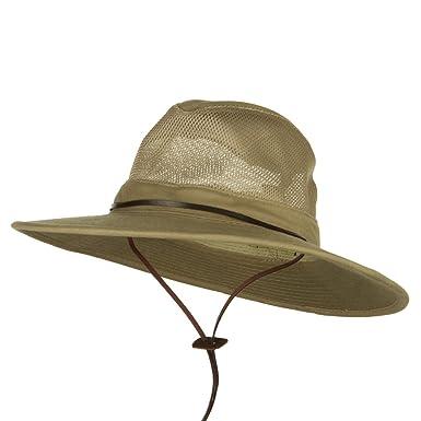 f119d35362528 DPC Scalar Mesh Safari Hats UPF 50+ - Khaki S at Amazon Men s Clothing  store