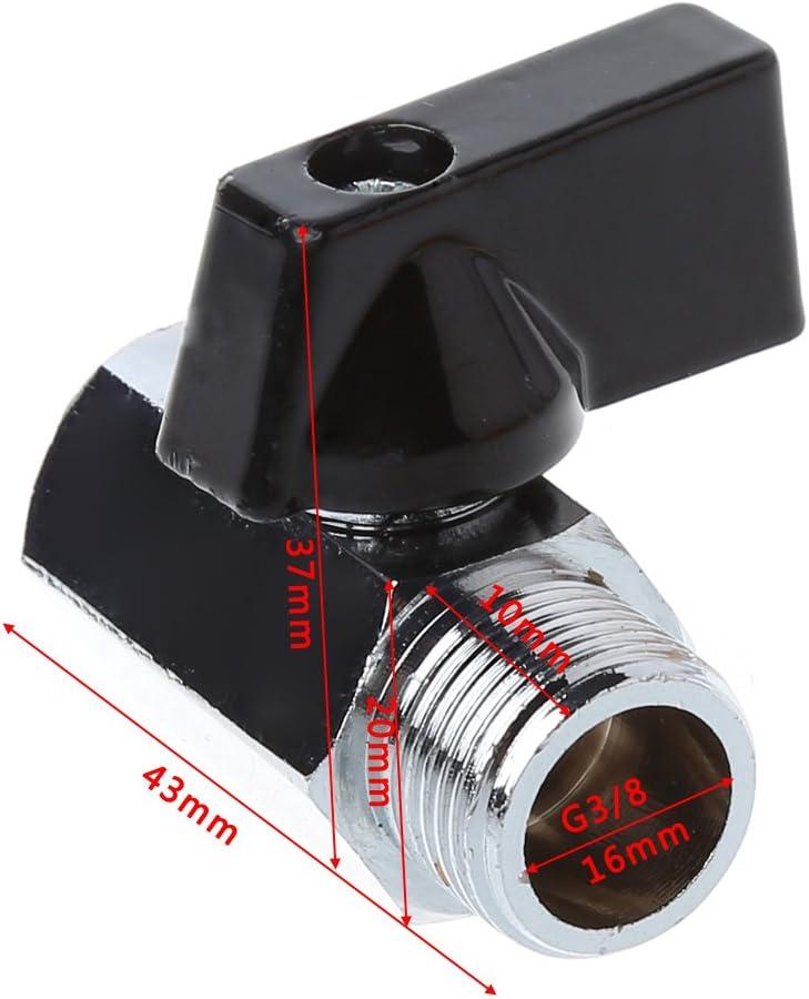 beioust Brass Miniature Ball Valve 3//8BSP Male//Female Air Compressor Hose