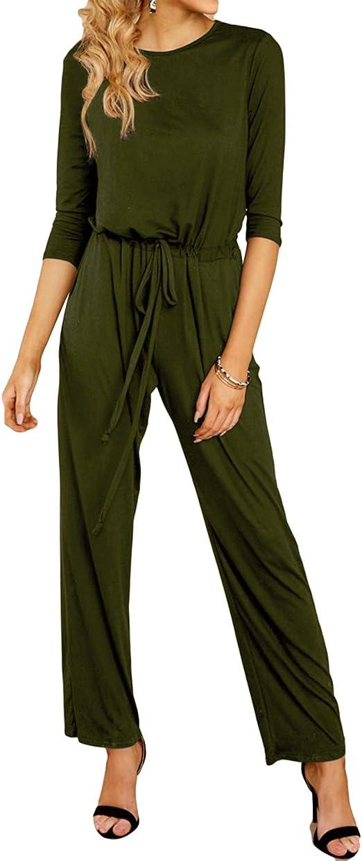YOINS Jumpsuit Mujer Verano Playa Romper Estampado Jumpsuit Elegante Langarmshirt Damas /Ärmless Einteiler Langhose