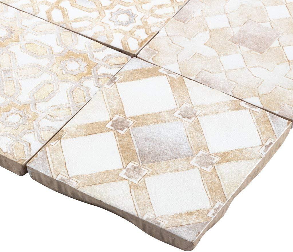 - Amazon.com: MTO0571 Modern 4X4 White Beige Multi-Pattern