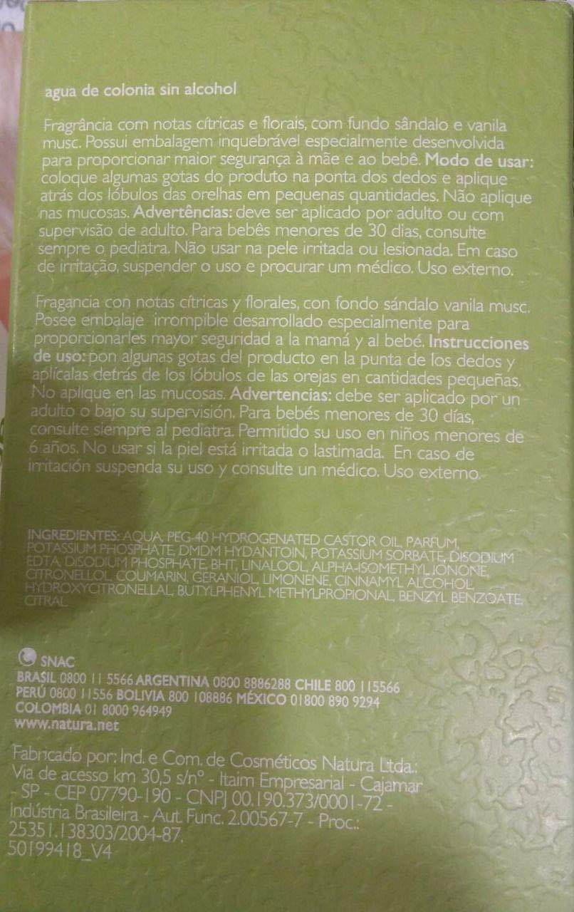 Amazon.com : Linha Mamae Bebe Natura - Agua de Colonia Lavanda Sem Alcool 100 Ml - (Natura Mom and Baby Collection - Alcohol-Free Lavender Eau de Cologne ...