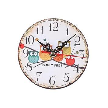 Cunclock 2 Tipos Caricatura Owl Despertador baño agujas reloj de sobremesa Decoracion creativa Reloj Tabla 11.5*11.5cm ,blanco: Amazon.es: Hogar