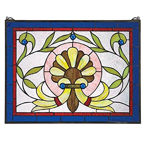 - Prairie Flower Stained Glass Window Hangings - Window Treatments ()