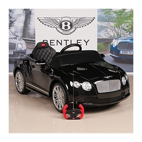 Bentley Gtc 12v Ride On Kids Battery Power Wheels Car Rc: Bentley Continental GT Kids Ride On Speed Convertible