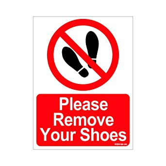 clickforsign sign35 m 1 2x please remove your shoes sign board
