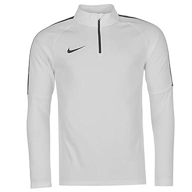 17cbbaa4bad54 Nike Academy Mid Layer Top Mens White/Black Sweater Sweatshirt ...