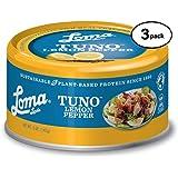 Loma Linda Tuno - Plant-Based - Lemon Pepper (5 oz.) (Pack of 3) - Non-GMO, Ocean Safe, Omega 3, Seafood Alternative