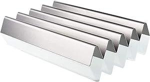 QuliMetal 7537 22.5 Inch Flavor Bars for Weber Spirit 300 Series, Spirit E310, E320, Spirit 700, Genesis Silver Gold Platinum B/C, Weber 900 Grills, Stainless Steel Heat Plates for Weber 7536, 16 GA