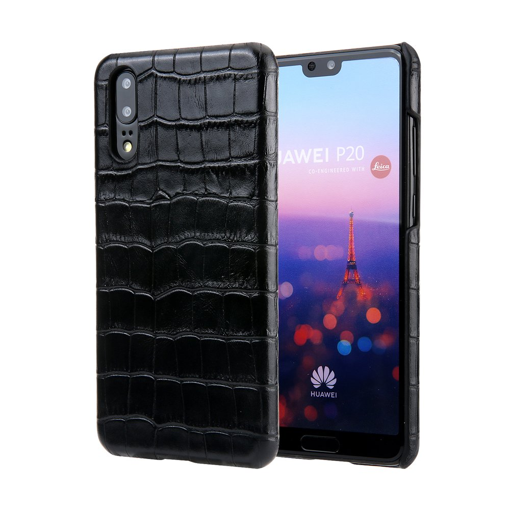 Scheam Huawei P20 Pro Wallet Case, Huawei P20 Pro Leather Case, Premium PU Leather Bumper Folio Stand Bumper Back Cover for Huawei P20 Pro - Black