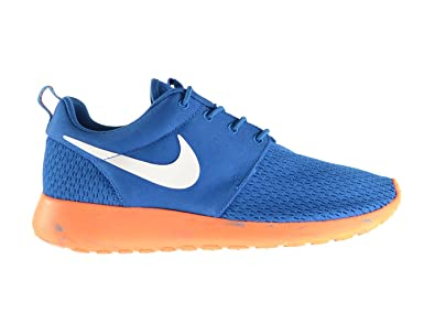 31c60165758e NIKE Rosherun M Men s Shoes Military Blue White Orange 669985-400 (12