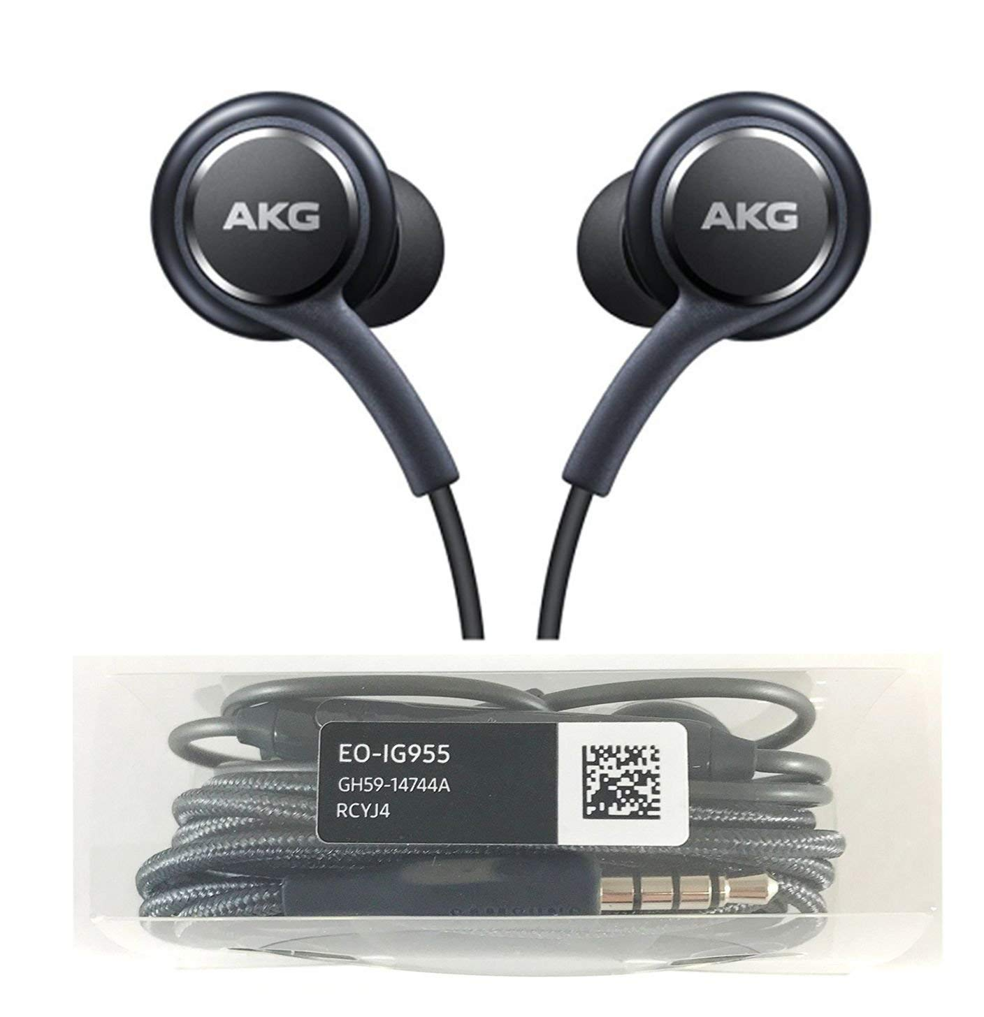 Mic Hands free Earphone AKG EO-IG955 Remote Earphones Headphones Headset Handsfree Black For Samsung Galaxy S8 /& S8 Plus