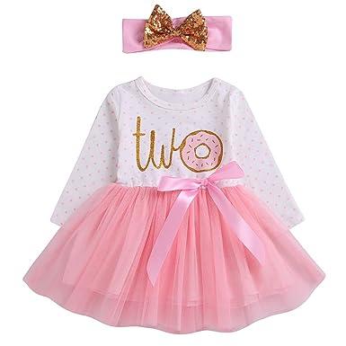 Amazon.com: Vestidos de princesa para bebés y niñas, de 6 a ...