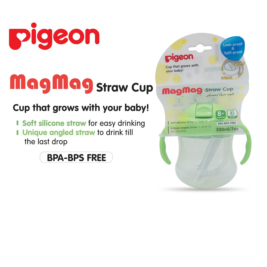 Buy Pigeon Mag Straw Cup Green Online At Low Prices In India Magmag All One Set Training