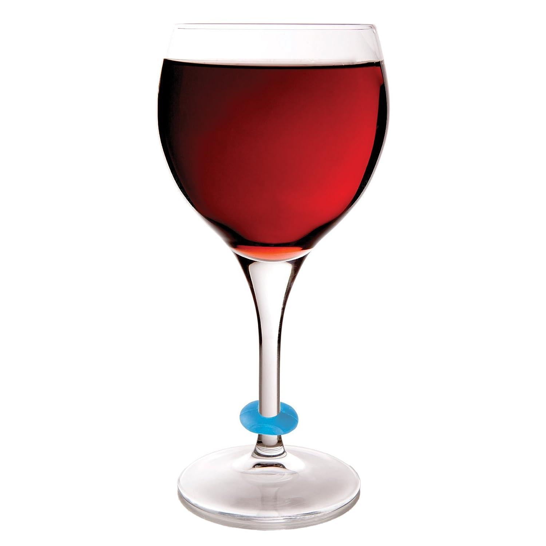 Wine Glass With Wine Part - 47: Amazon.com: Wine-O Silicone Wine Charms By True: Wine Glass Tags: Kitchen U0026  Dining