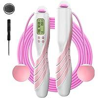iMoebel Springtouw digitale teller verstelbaar - Speed Rope touwspringen met stalen touw anti-slip zware ergonomische…